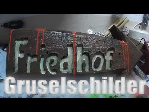 Halloween DIY: Friedhof Schild Graveyard Sign