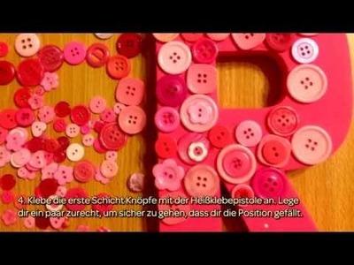 Kreiere Einen Mit Knöpfen Besetzten Buchstaben - DIY Home - Guidecentral