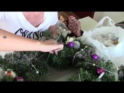 FML#10 - follow my life - Weihnachtsdekoration,DIY Adventskranz, viel Glitzer und Bling Bling