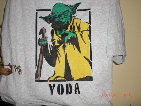 Revell - Textilgestaltung - Yoda in Farbe auf Shirt - DIY - Anleitung