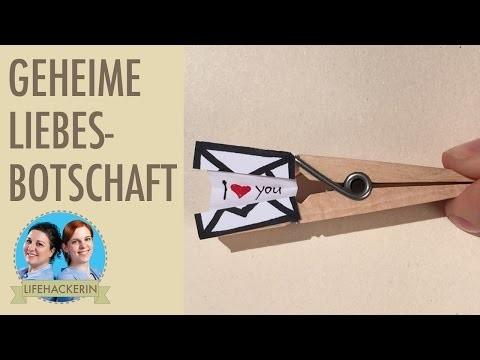 Süsse Liebesbotschaft DIY