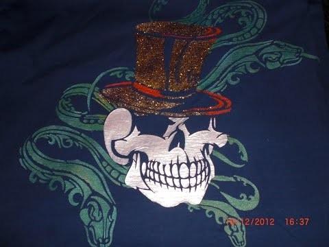 Textildesign - Anleitung - Shirt mit Platzhalterschablone gestalten - DIY