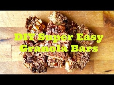 DIY Easy Granola Bars (Deutsch, English Sub)