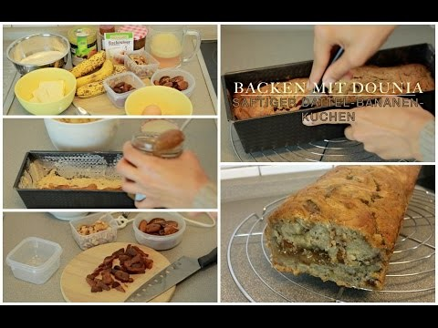 DIY: SAFTIGER Bananen-Dattel-Kuchen!
