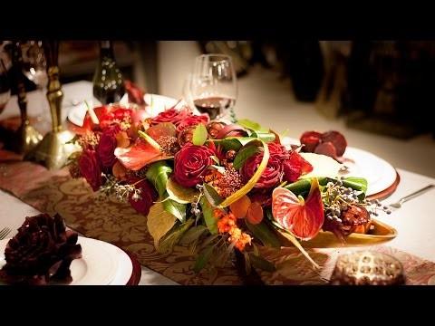 DIY: edle weihnachtliche Tischdekoration