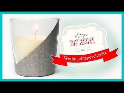 DIY Glitzer Kerze | Weihnachtsgeschenke mit Nagellack ❅❤❅