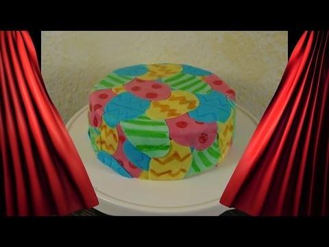 DIY Ostertorte  Motivtorte Ostern schnelle Torte Torte dekorieren mit Fondant