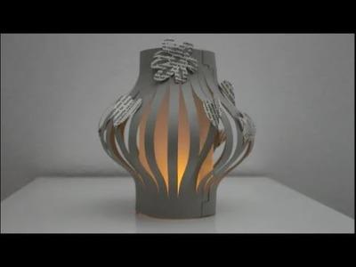 DIY: Windlicht. Laterne basteln im Zeitraffer. Tealight holder. lantern  time lapse