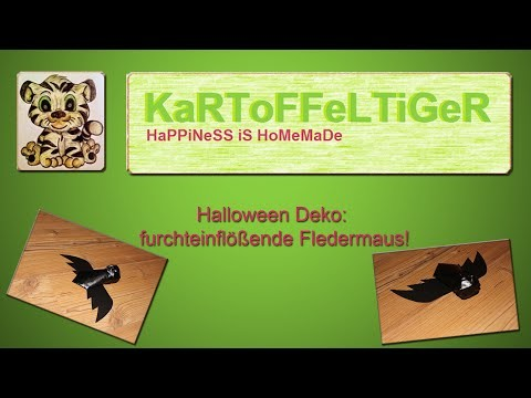 DIY - Halloween Deko - furchteinflößende Fledermaus