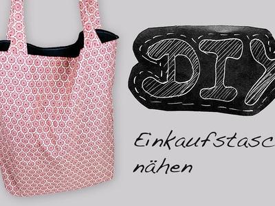 Nähanleitung Einkaufstasche Beuteltasche Tasche Beutel selber nähen DIY Schnittmuster kostenlos