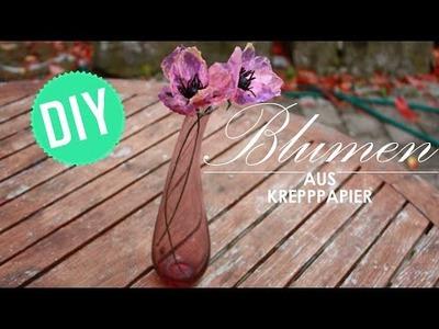 DIY: Bunte Blumen aus Kreppapier