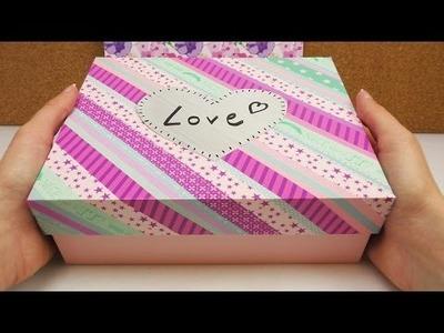 DIY Glossybox verschönern mit Washi Tape | Box Deko für eurer Zimmer als Aufbewahrung oder Geschenk