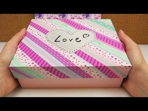 DIY Glossybox verschönern mit Washi Tape   Box Deko für eurer Zimmer als Aufbewahrung oder Geschenk