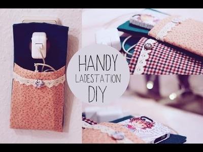 DIY Handy Ladestation ohne Nähen | süße Geschenkidee - super praktisch