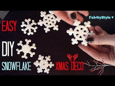 DIY Schneeflocke Weihnachtsdeko Eiskristall ★ Snowflake Weihnachten Xmas Deko DIY