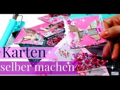 DIY Bastelideen | Wie macht man Schüttelkarten | Ausgefallene Karten basteln | Tutorial deutsch