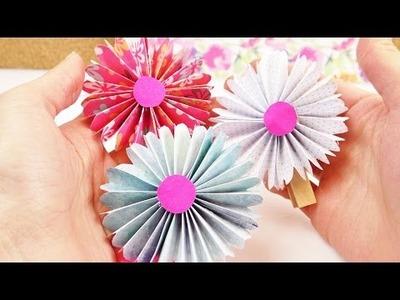DIY Frühlings Blumen aus Papier | Dekoideen einfach und schön | Süßes Blumen Geschenk selber machen