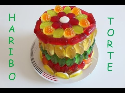 DIY Haribo Torte, - DIY Haribo Cake