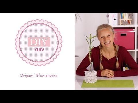 Origami Vase DIY Basteln 007