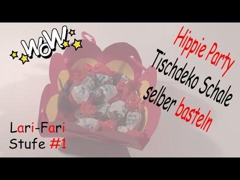 Schale Tischdeko Hippie Party - DIY - einfache Papierschale selber basteln
