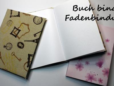 DIY Grundtechnik Buch binden für Anfänger: Notizbuch mit Fadenbindung | kreativBUNT