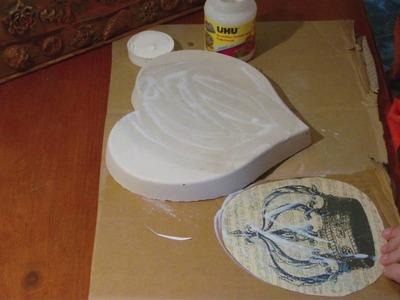 DIY - Potchen mit einem Bild aus dem Tintenstrahldrucker