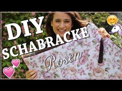 DIY SCHABRACKE selber nähen ✮ Blumenstoff. Rosenmuster ♥ Pimp my Schabracke