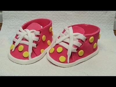 Baby Schuhe aus Fondant  machen DIY