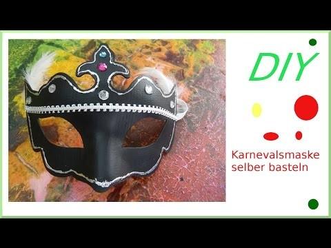 DIY eine einfache Karnevalsmaske basteln [deutsch]