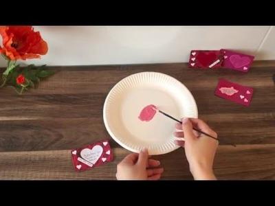 DIY Gutschein Karte. Rubbellos basteln, für Valentinstag, Geburtstag, Muttertag