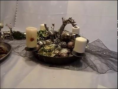DIY:keka edle Advent und Weihnachts Tisch DEKO ,Kerzen DEKO selbst gemacht