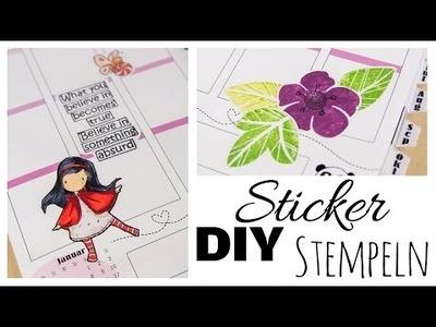 [DIY] Sticker selbermachen #1 | Stempeln