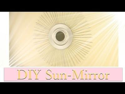 DIY Sun. Sunburst Mirror- Sonnenspiegel - Upcycling Papier.Zeitungen
