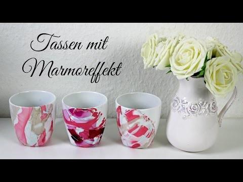 DIY Tassen marmorieren | Marmoreffekt