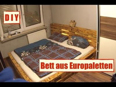 Möbel aus Europaletten - Paletten Bett mit LED Beleuchtung - DIY Furniture