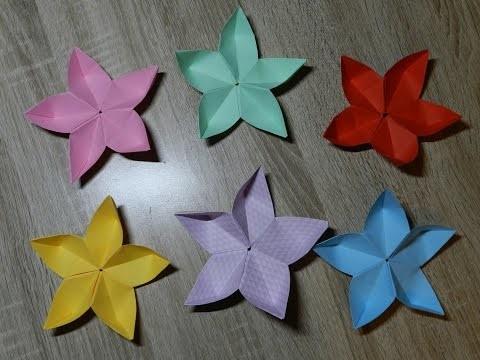 Origami Blume falten. DIY -Origami Flower