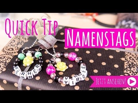 [Quick Tipp] Namenstags aus Perlen | DIY Geschenke verpacken