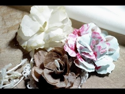 Scrapbooking Flowers like Prima DIY[Stoffblumen,Basteln,Deutsch]