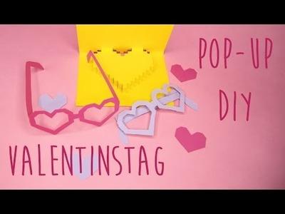 Valentinstag Geschenkidee zum Selbermachen - Pop Up Karte DIY