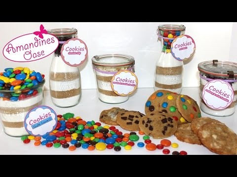 cookie backmischung im glas mit etiketten diy geschenk. Black Bedroom Furniture Sets. Home Design Ideas