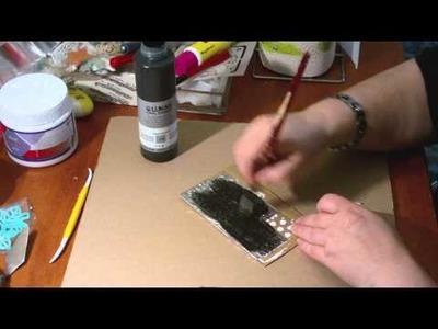 DIY - Anleitung - metal tape art - Alu Tape - erste Versuche, um mal auszuprobieren