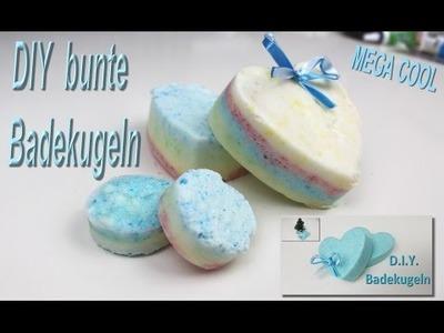 ♡♡♡ DIY BUNTE SPRUDEL BADEKUGELN - mit Tini ♡♡♡