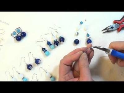 DIY einfache Perlen Ohrringe erklärt selber machen