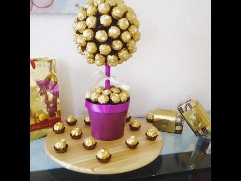 DIY Ferrero Rocher Strauß, ganz einfach und eindrucksvoll zum selber machen
