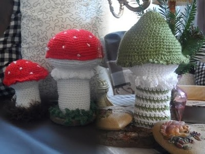 DIY: keka Hübsche 3D  Pilze selbst häkeln, DEKO IDEE Part 1