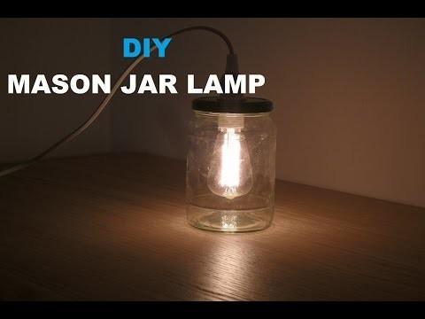 DIY make a Mason Jar Light - Latern Lampe aus Einmachglas selber machen