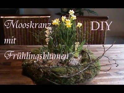 DIY |  Mooskranz mit Frühlingsblumen | Frühlingsgesteck | Just Deko