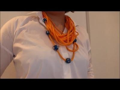 DIY: * Oster Special * Loop Schal aus altem T-Shirt l Basteln zu Ostern # 6