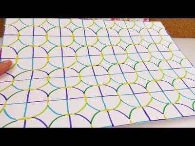 Musterpapier selber machen | DIY mit Zirkel, Bleistift & Filzstiften | Tolles Dekopapier gestalten