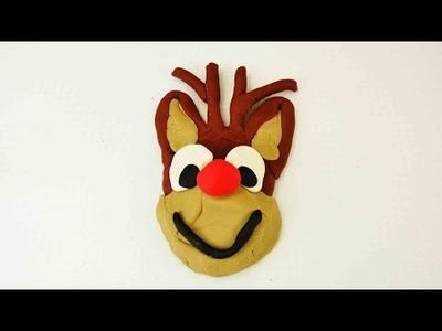 Rudolf das kleine Rentier aus Knete einfach selber machen - DIY Anleitung